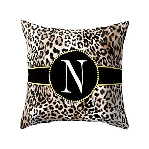 VEFSU Fashion English Alphabet Pillow Print Cushion Flower