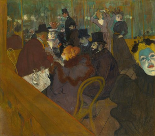 At the Moulin Rouge (1895) (Painting) painted by Henri de Toulouse-Lautrec