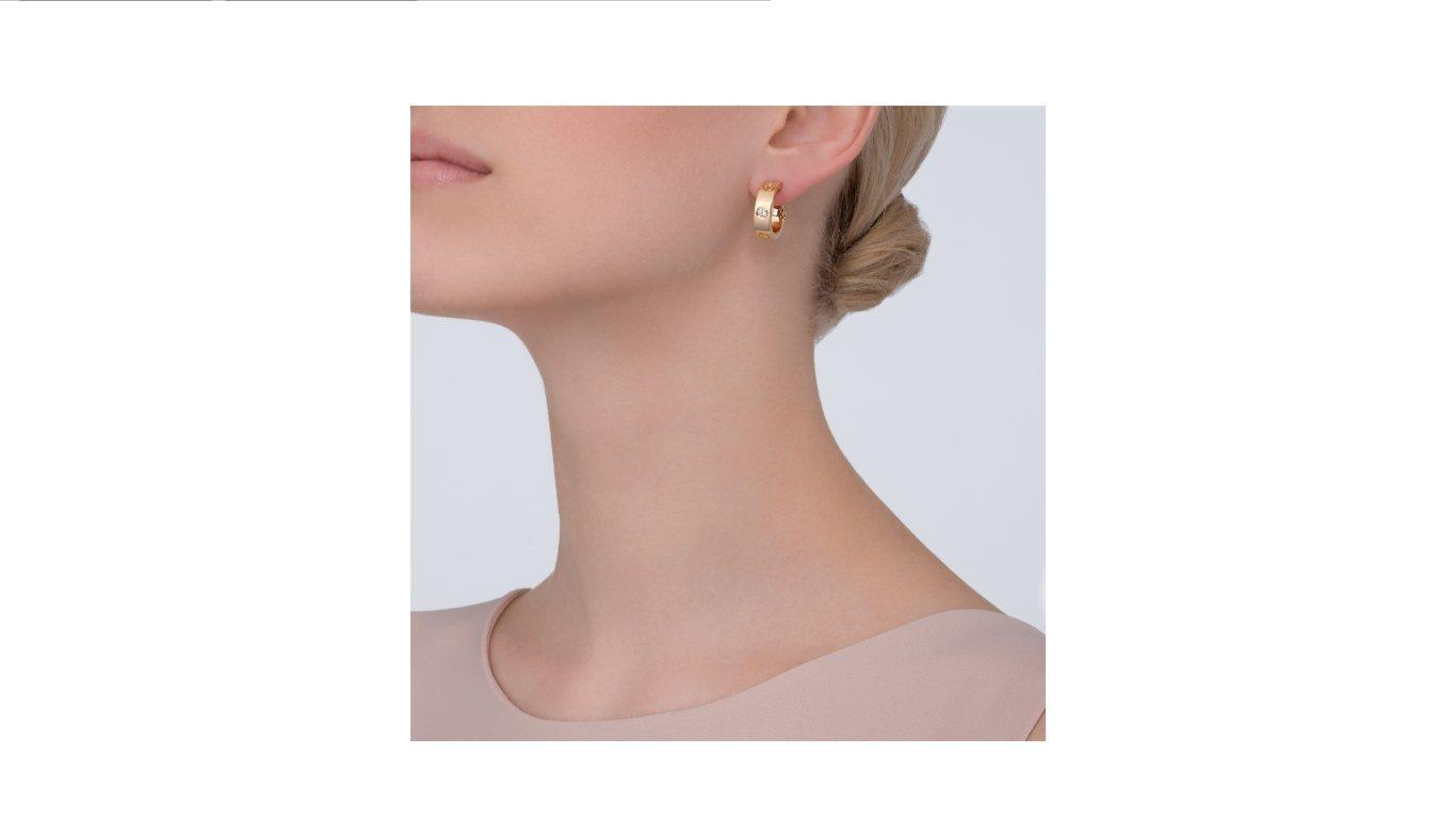 9da363e0a61b Cartier Style - Pendientes de oro rosa y amarillo de 18 quilates ...