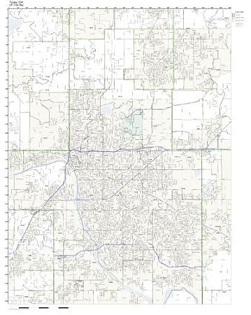 Amazon.com: ZIP Code Wall Map of Tulsa, OK ZIP Code Map Laminated ...