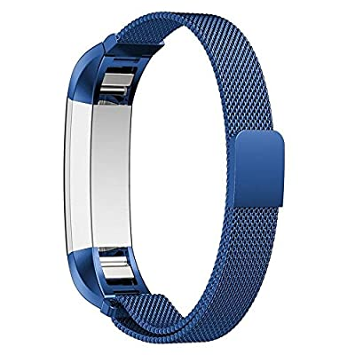 Fitbit Alta Band, No1seller Magnetic Milanese Loop Stainless Steel Magnet Closure Lock Bracelet Strap Band Watch Band For Fitbit Alta Fitness Tracker