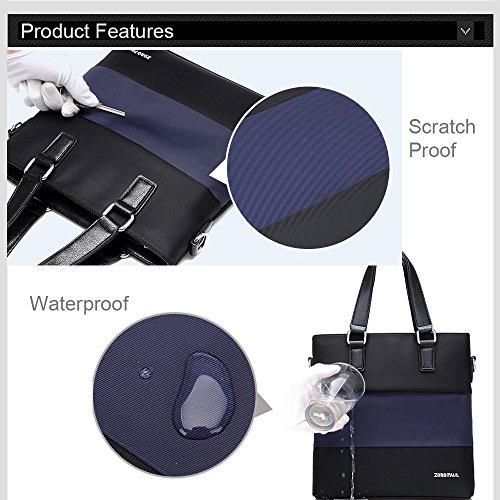 Ranbow Segeltuch-Aktenkoffer-leichte Spielraum-Beutel für Mann-Geschäfts-Hand tragen Schulter-Beutel-Dokument-Beutel-Aktenordner-Beutel-wasserdichte Handtasche
