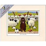 Ewere A Big Softee Mounted Print by Thomas Joseph - Sheep Art by Thomas Joseph