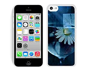Daisy Flower Glass Water Designer Iphone 5c Case White Cover Best Gift Cell Phone Accessories
