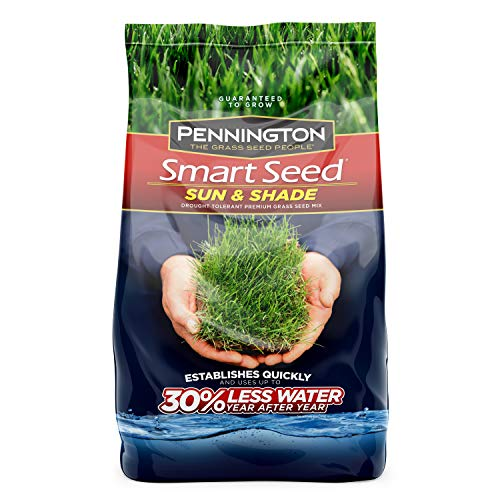 Pennington 100526671 Smart Seed Sun and Shade Grass Seed, 7 LBS