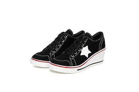 fa1a94b2c1448 Amazon.com: DETAIWIN Women Casual Canvas Walking Shoes Slip On Denim ...