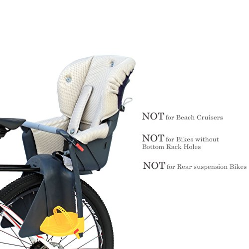 CyclingDeal Bicycle Kids child Rear Baby Seat bike Carrier USA Standard With Adjustable Seat Rest Height by CyclingDeal (Image #2)