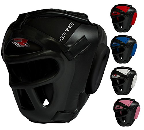 RDX Maya Hide Leather Boxing MMA Protector Headgear UFC Fighting Head Guard Sparring - Headgear