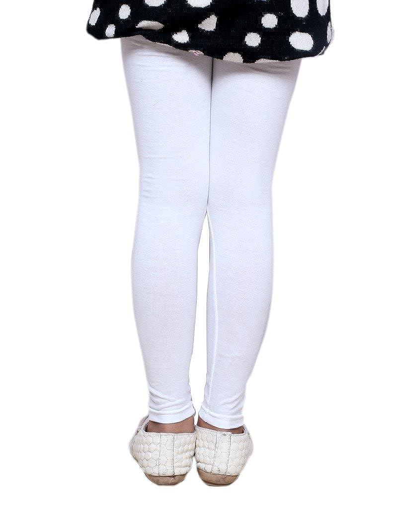 Indistar Little Girls Super Soft Cotton Leggings Combo Pack Of 3