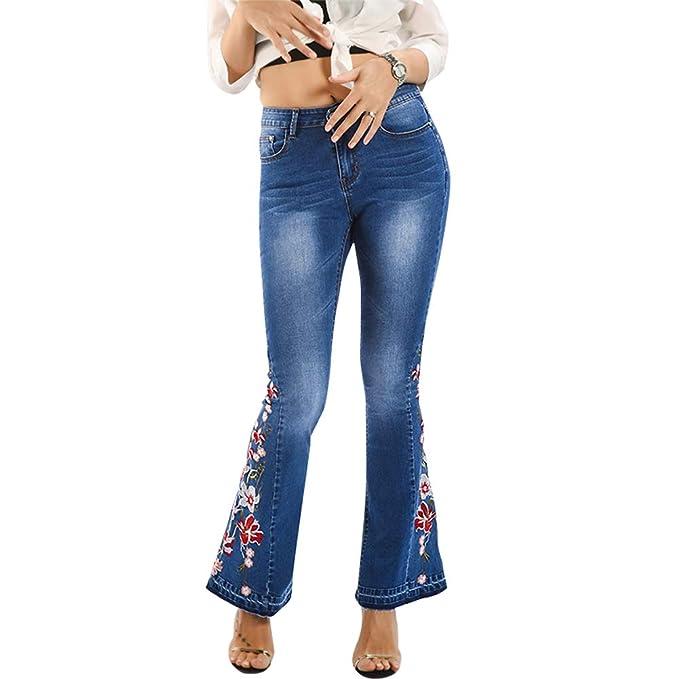 Amazon.com: Pantalones vaqueros para mujer, diseño vintage ...