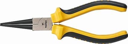 Topex 32D109 - Alicate, boca redonda (160 mm)