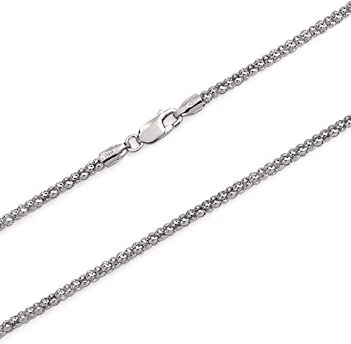"""Unisex 925 Sterling Silver Italy Made Gauge 022-1mm 16/"""" to 30/"""" Round Box Chain"""