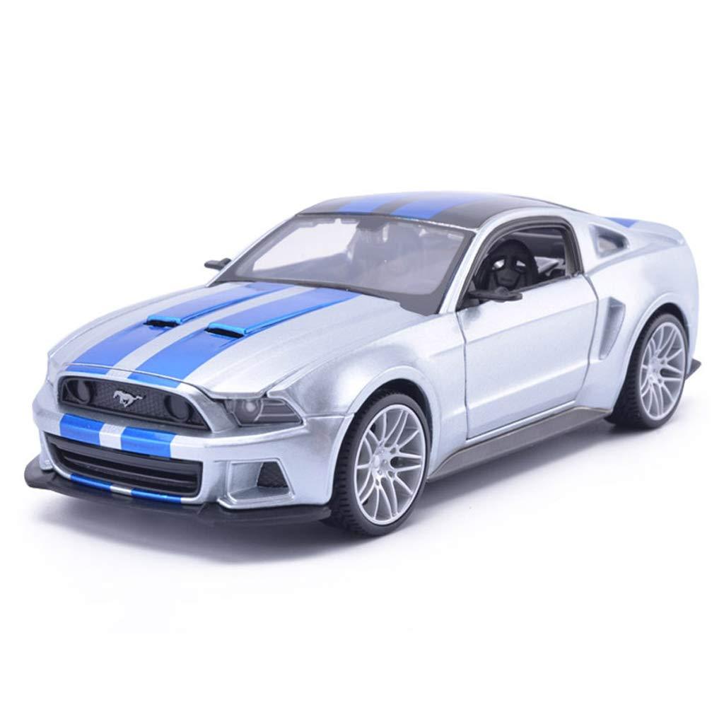 mejor vendido plata LICCC Modelo de Coche 1 1 1 24 Ford Mustang GT Simulación Aleación de fundición a Troquel Modelo de Juguete Colección de automóviles Joyería (Color   plata)  mejor servicio