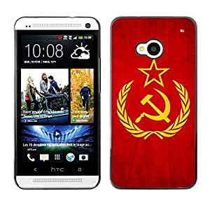 Shell-Star ( National Flag Series-Soviet Union ) Snap On Hard Protective Case For HTC One (M7)