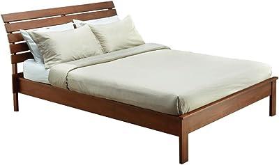Amazon Com Ikea Hemnes Queen Bed Frame Black Brown Wood