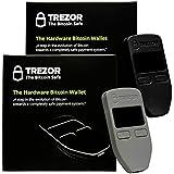 Black and Grey Satoshi Labs Trezor Safe Wallet for bitcoin storage offline wallet safe BTC Litecoin LTC Zcash Ethereum Dash