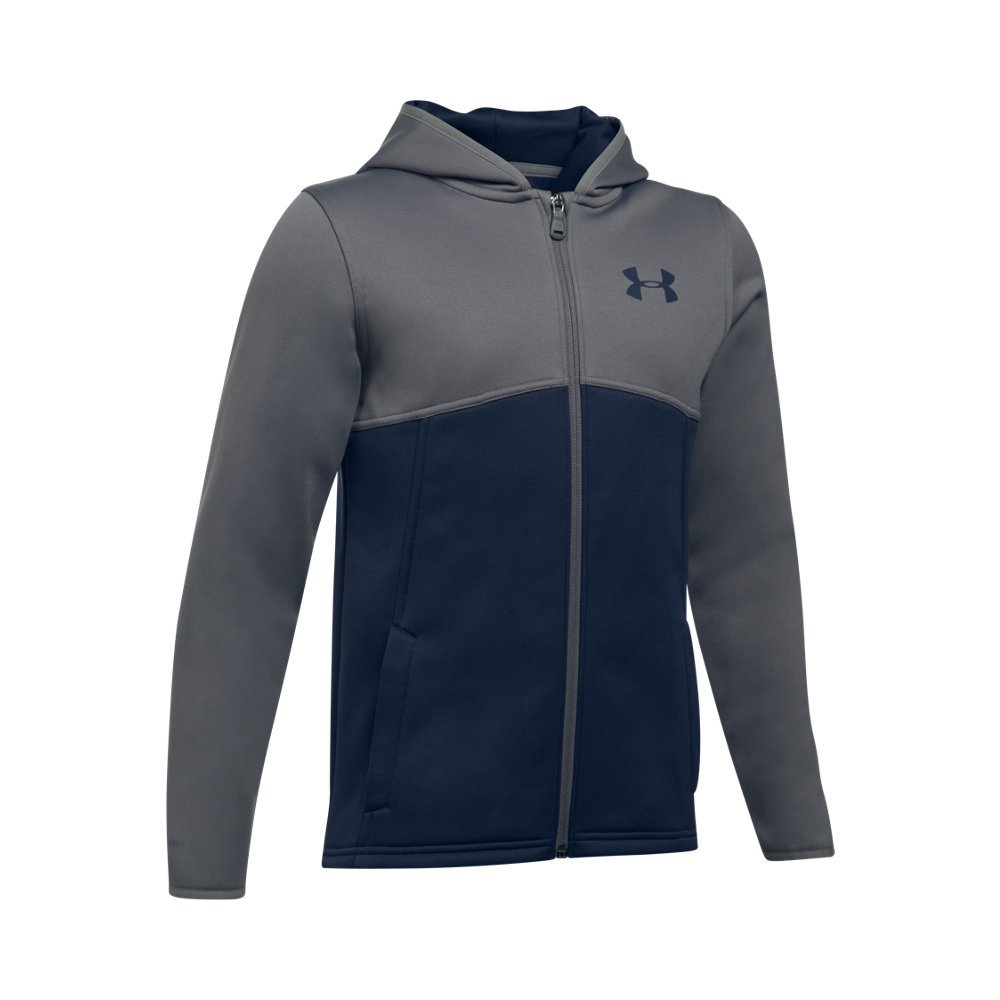 Under Armour Armour Fleece Full Zip Youth X-Small Midnight Navy