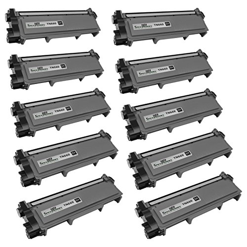 Speedy Inks - 10 Pack Compatible Brother TN630 TN660 TN-660 High Yield Black Toner Cartridge fort use in DCP-L2520DW, DCP-L2540DW, HL-L2300D, HL-L2320D, HL-L2340DW, HL-L2360DW, HL-L2380DW, MFC-L2700DW, MFC-L2720DW, & MFC-L2740DW