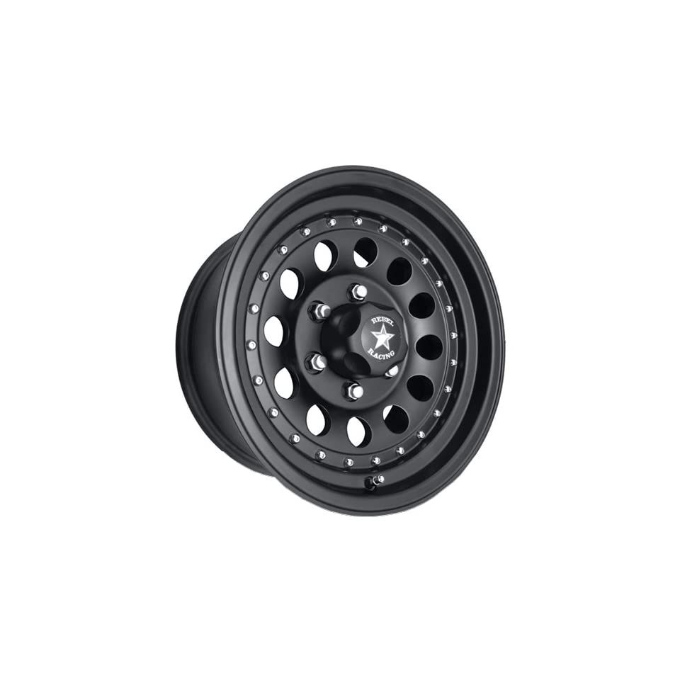 Rebel Racing Bandit II 15 Black Wheel / Rim 6x5.5 with a  19mm Offset and a 107.95 Hub Bore. Partnumber R762 5883 Automotive