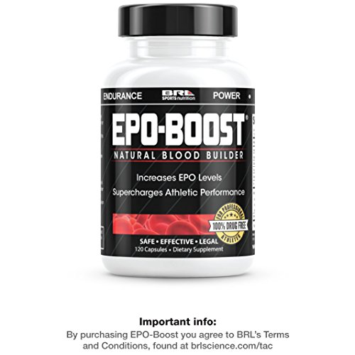 EPO-BOOST Natural Blood Builder Sports Supplement. RBC Booster with Echinacea & Dandelion Root for increased VO2 Max, Energy, Endurance (120 (Echinacea Root Complex 100 Capsules)