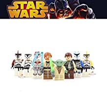 ABG toys Minifigures STAR WARS Yoda, Clone Trooper, Captain Rex, Clone Trooper Commander, Clone Trooper Captain, Jek-14, Obi-Wan Kenobi, Han Solo Series Building Blocks Sets Toy Compatible With Lego (No box, no card)