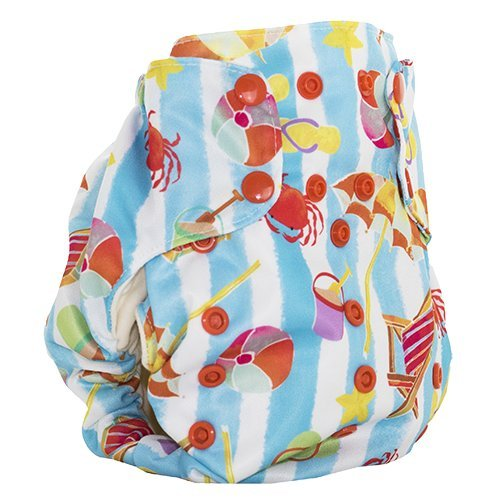 Smart Bottoms Smart ONE 3.1 Organic All-in-one Cloth Diaper (Beach Adventure