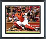 "Yadier Molina St. Louis Cardinals 2016 MLB Action Photo (Size: 12.5"" x 15.5"") Framed"