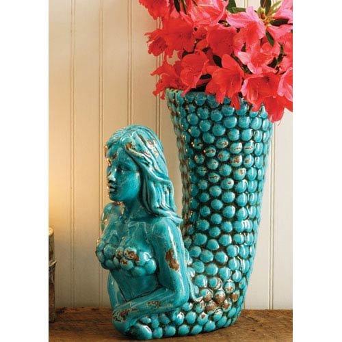 The Mermaid Vase, 12.5 x 6 x 12 in