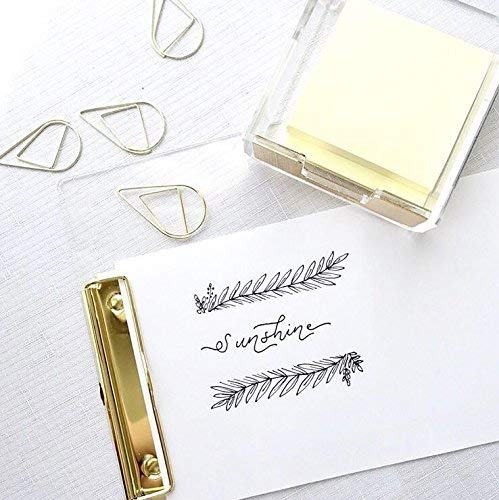 UNIQOOO Thick Clear Acrylic Clipboard with Shinny Gold Finish Clip, Perfect for Modern Arts Lover, Fashion and Style Expert, Calligrapher, Office, Seminars, Workshops, Home school, Classroom and Event Photo #8