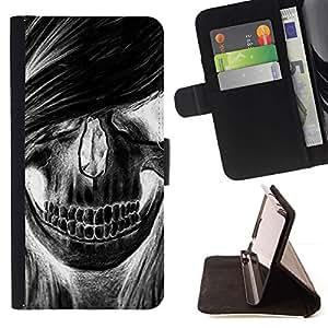 Momo Phone Case / Flip Funda de Cuero Case Cover - Cráneo de la muchacha de pelo Grunge Música Muerte - Samsung Galaxy Note 3 III