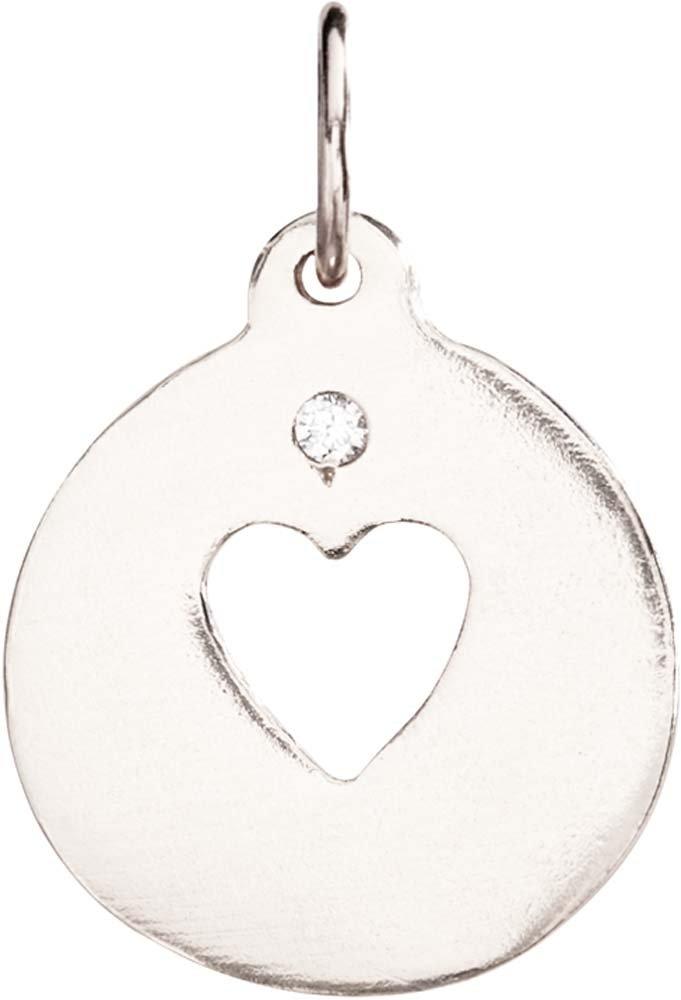 Helen Ficalora Heart Cutout Charm With Diamond White Gold
