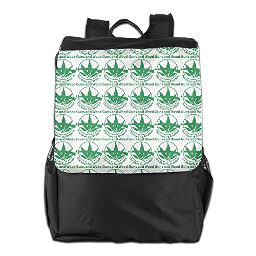 Guns And Weed The Road To Freedom Unisex Casual Shoulders Backpack by HIFUN