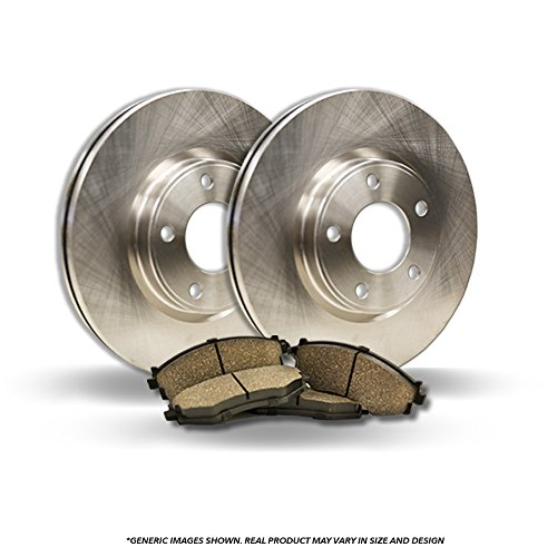 ((Front Kit)(High-End) 2 OEM Replacement Disc Brake Rotors + 4 Ceramic Pads(Paseo)
