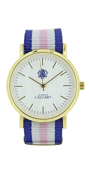 Relojes Calgary Cannes colección Peace & Love. Reloj Vintage para Mujer, Correa de Tela