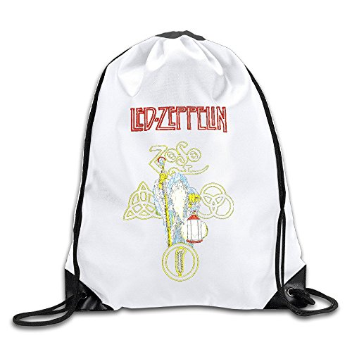 Acosoy Led Zeppelin Logo Drawstring Backpacks/Bags - Make Lego Costume Youtube