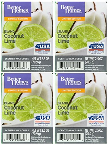 Better Homes and Gardens Island Coconut Lime Scented Wax Cubes - 4-Pack