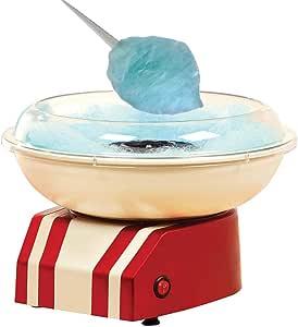 500W Máquina de Algodón de Azúcar Eléctrica,Cotton Candy Machine para Fiestas Cumpleaños, Usar Azúcar Normal o Caramelos Duros, de plástico, palitos Madera y Cuchara dosificadora: Amazon.es: Hogar