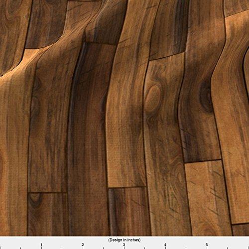 Floor Cloth Canvas - Spoonflower Wood Fabric Wooden Floor by Bonnie Phantasm Printed on Eco Canvas Fabric by the Yard