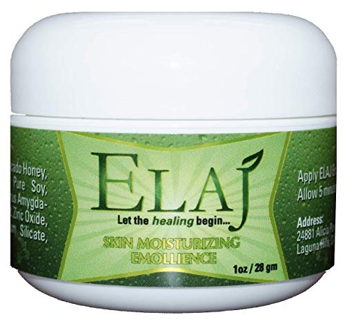 ELAJ Emollient for Eczema, Psoriasis, Dermatitis, Rashes, Scars, Coldsores, for INTENSIVE MOISTURIZATION for severely, dry, cracked skin (1 oz) (Best Emollient For Psoriasis)