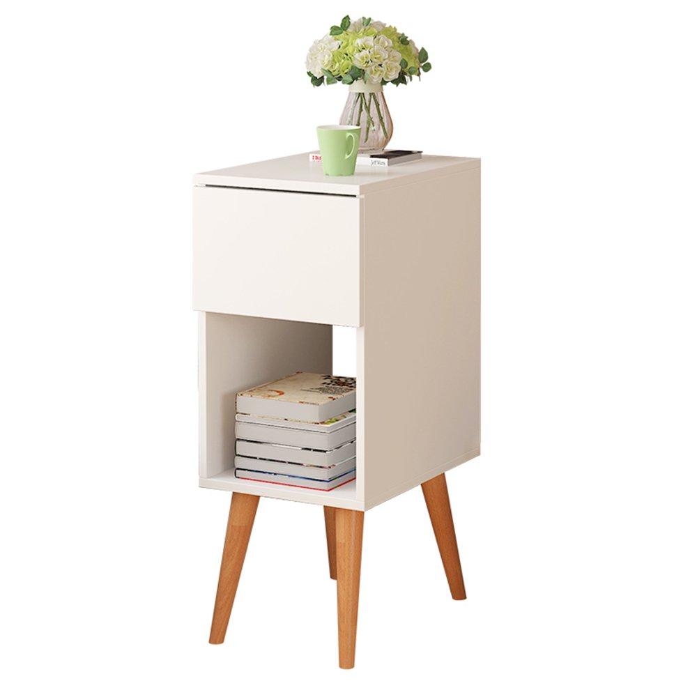 Lagerregal ZHIRONG Nachttisch Mit Schublade Nachttisch Beistelltisch Beistelltisch Schrank Regal Für Schlafzimmer Wohnzimmer 41,5 (L) X 30 (B) X 76 (H) cm Weiß