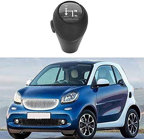 Vaorwne Schalt Knauf Automatik Knopf Schwarz Für Smart Fortwo 450 451 1998 2014 Smart Roadster 452 2003 2006 Getriebe Kopf Geh Use Hülse Auto