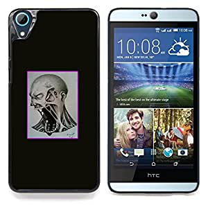 "Qstar Arte & diseño plástico duro Fundas Cover Cubre Hard Case Cover para HTC Desire 826 (Scream Mad"")"