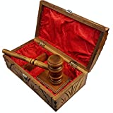 moonwood Perfect Quality Wood Gavel Boxed Set