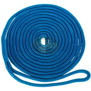 "Blue Double Braided 1//2/"" in x 15/' ft HD Boat Marine Dock Line Ropes 4 Set of"