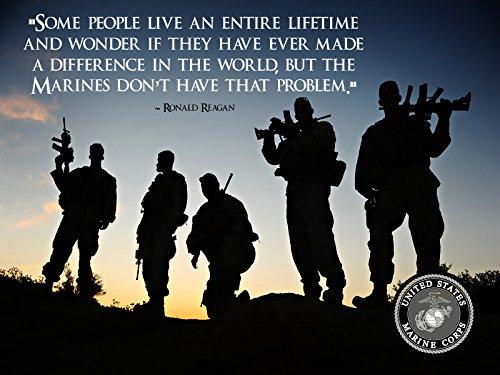 USMC Poster Marine Corps Poster Ronald Reagan Quote USMC 18x24