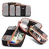 BUBM Travel Hanging Toiletry Bag Packing Cubes,Travel Luggage Packing Organizers-3pc Set (Black)