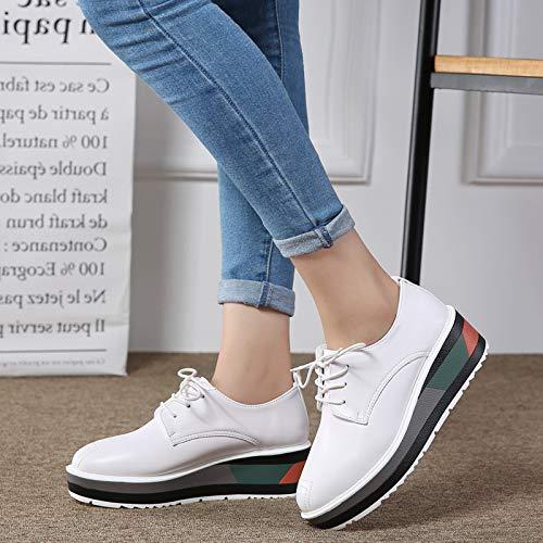 Blancos de Deportivos Zapatos Zapatos Moda nuevos Estudiante Hasag Zapatos Mujer Casuales Zapatos Zapatos pequeños de de CX6xwq4