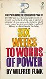 6 weeks word Power, Wilfred funk, 0671425145