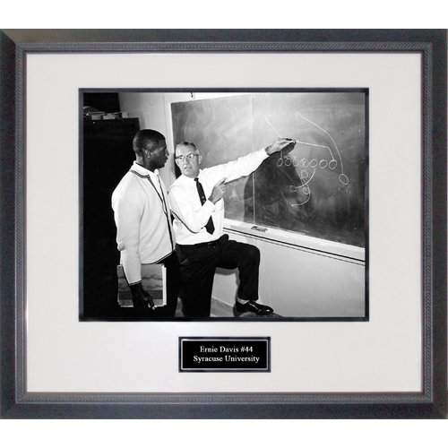 NCAA Syracuse Orange Ernie Davis Going over Play Framed 16x20 Photograph by Steiner Sports