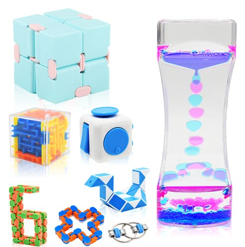 Sensory Fidget Toys Set Fidget Pack Cheap, Relieves Stress and Anti-Anxiety Push pop for Kids Adults Perfect for Birthday Party Favors, School Classroom Rewards 8 Pcs